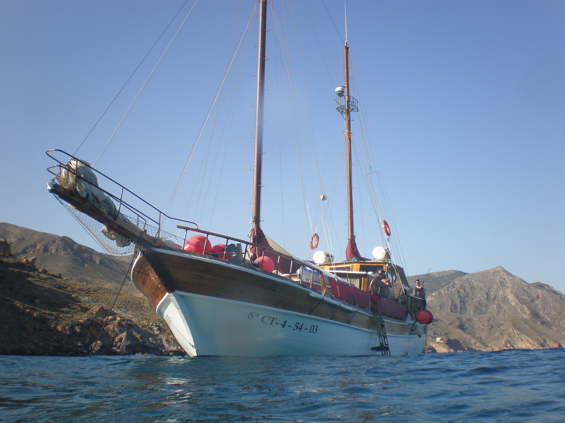 Goleta turca en Mazarrón